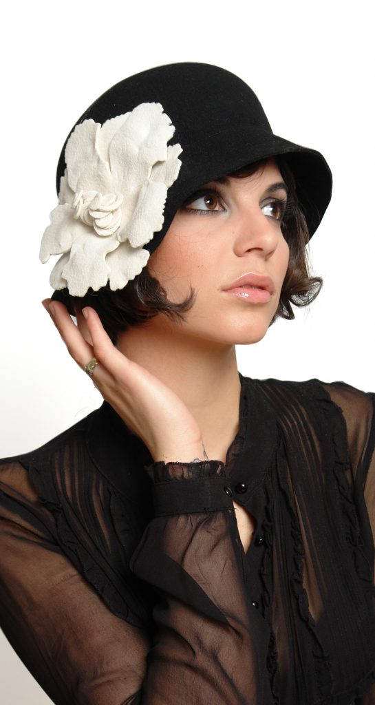 Ophelie_hats_cloche_hat_with_flower_black_