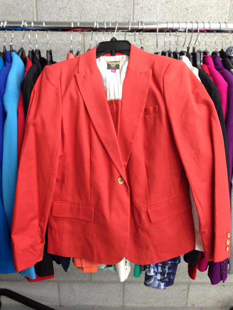 Coral blazer (regular price $199) at $80.