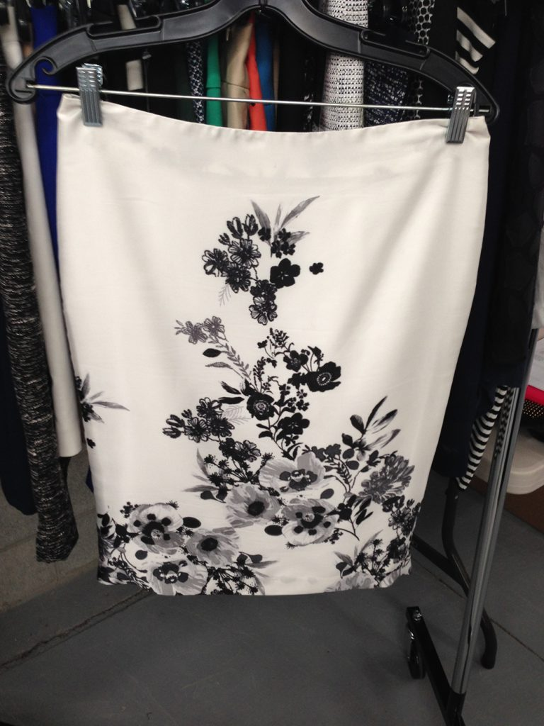 Flowery skirt at $50.