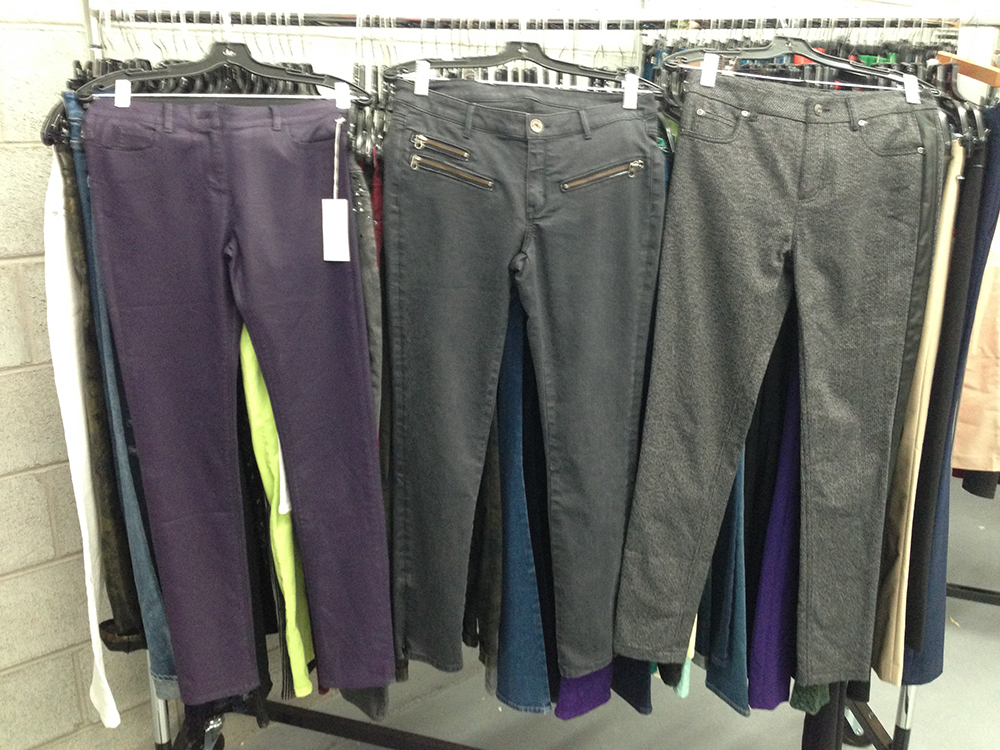Pants at $50 each.