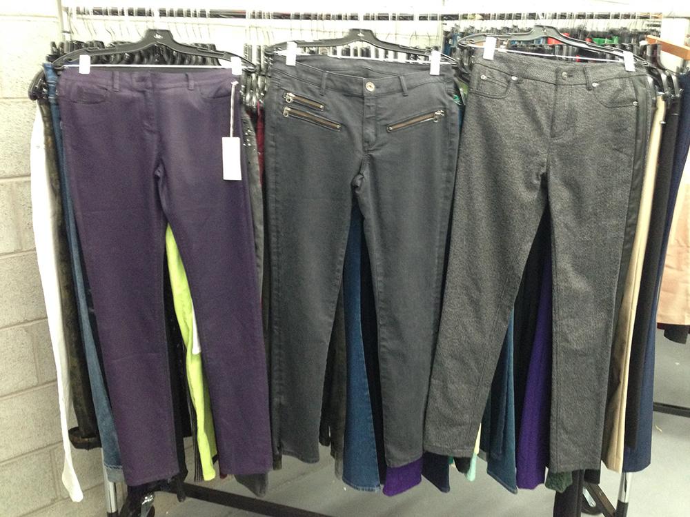 Pants at $50 each.