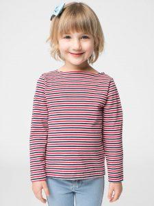 T-shirt à Manches Longues et Encolure Bateau pour Enfants