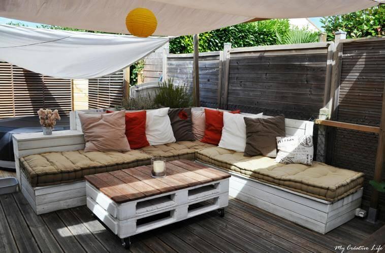 Beautiful Meuble Jardin En Palette Contemporary - Design Trends ...