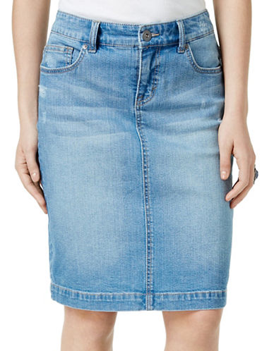 STYLE AND CO. Rip Denim Skirt on sale at $39.50 (reg. $79)