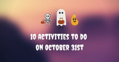 10 activities to do on October 31st