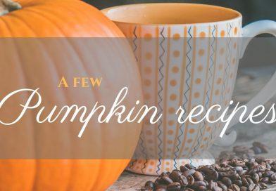 A few pumpkin recipes